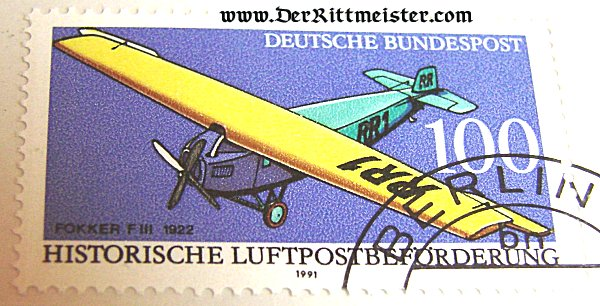 SET - FIVE AVIATION POSTAGE STAMPS - 1978 LUFTPOSTAUSSTELLUNG - STUTTGART - Imperial German Military Antiques Sale