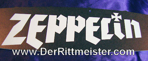 """ZEPPELIN CUTOUT CARD - MOTION PICTURE """"ZEPPELIN."""" - Imperial German Military Antiques Sale"""