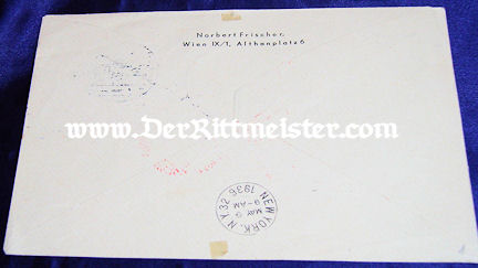 ZEPPELIN-FLOWN ENVELOPE - USA - Imperial German Military Antiques Sale