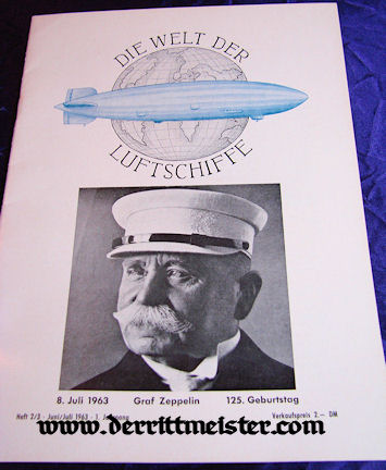 """CORRESPONDENCE - MAGAZINES -""""NEW ZEPPELIN"""" - 1966 - Imperial German Military Antiques Sale"""