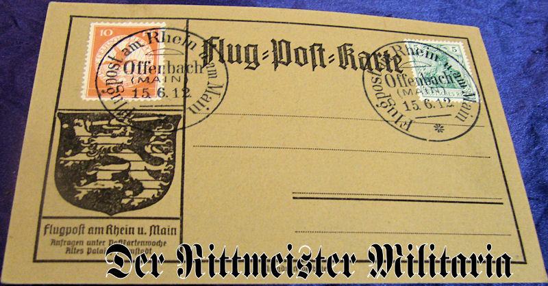 ZEPPELIN FLUG=POST=KARTE - Imperial German Military Antiques Sale