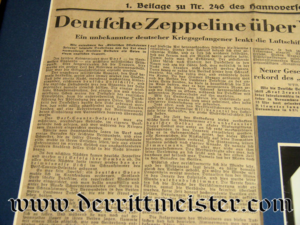 FRAMED ZEPPELIN COLLAGE - Imperial German Military Antiques Sale