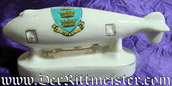 PORCELAIN FIGURINE - WW 1 GERMAN ZEPPELIN  - Imperial German Military Antiques Sale
