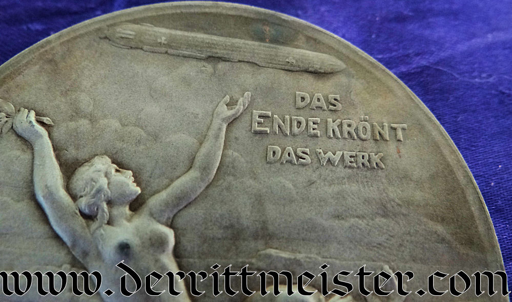GRAF ZEPPELIN TABLE MEDAL - Imperial German Military Antiques Sale