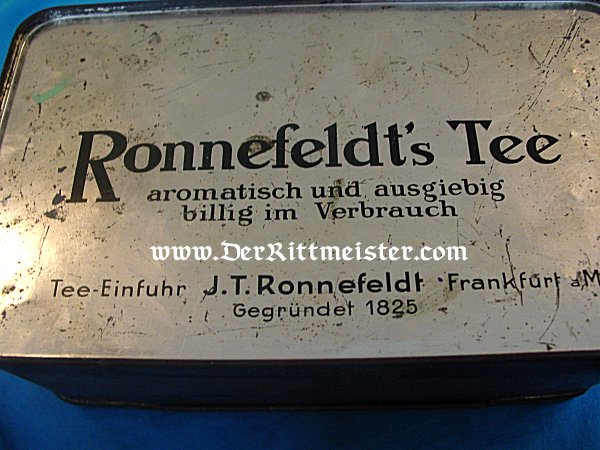 ZEPPELIN TIN BOX - Imperial German Military Antiques Sale