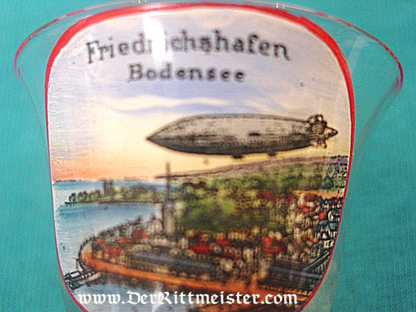 ZEPPELIN SCHNAPPS GLASS - Imperial German Military Antiques Sale