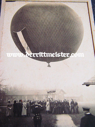 MATTED PHOTOGRAPH - BALLOON - PRE WW I - Imperial German Military Antiques Sale