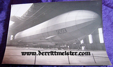 ORIGINAL PHOTOGRAPH - ZEPPELIN SACHSEN - HANGER - Imperial German Military Antiques Sale