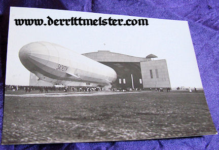 ORIGINAL PHOTOGRAPH - ZEPPELIN SACHSEN OUTSIDE - HANGER - Imperial German Military Antiques Sale