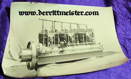 LARGE-FORMAT PHOTOGRAPH - ZEPPELIN ENGINE  - Imperial German Military Antiques Sale