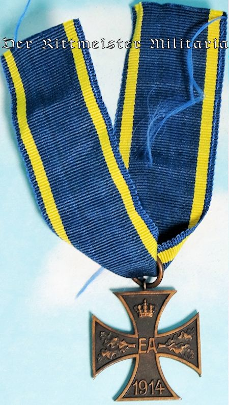 1914 KRIEGSVERDIENSTKREUZ 2nd CLASS WITH COMBATANTS RIBBON - BRAUNSCHWEIG - Imperial German Military Antiques Sale