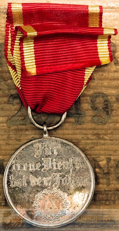 NINE-YEAR LONG-SERVICE MEDAL - BADEN - Imperial German Military Antiques Sale
