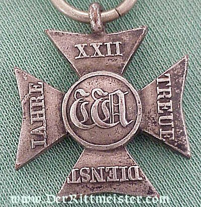 22 YEARS LONG SERVICE DECORATION - NASSAU - Imperial German Military Antiques Sale
