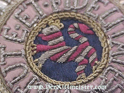 HOUSE ORDER OF THE GOLDEN LION COMMANDER'S BREAST STAR - Imperial German Military Antiques Sale