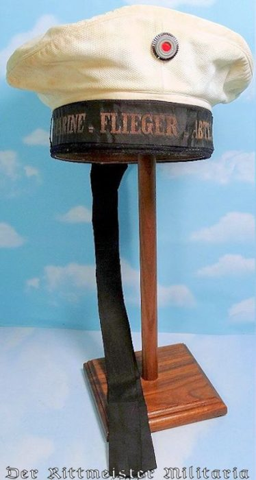 SUMMER ENLISTED MARINE-FLIEGER-ABTEILUNG SAILOR'S MÜTZE - Imperial German Military Antiques Sale