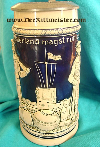 NAVY VETERAN'S STEIN - Imperial German Military Antiques Sale