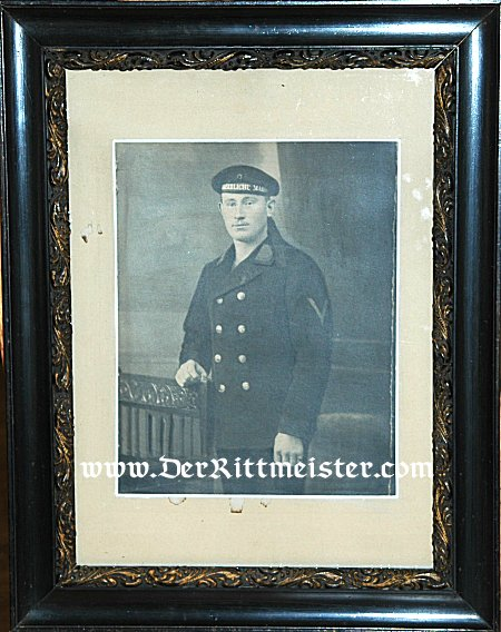 LARGE FRAMED PORTRAIT OF SAILOR - Imperial German Military Antiques Sale