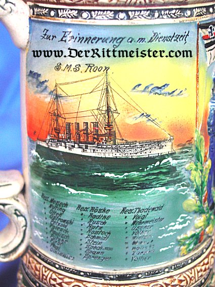 NAVY RESERVIST KRUG - S.M.S. ROON - Imperial German Military Antiques Sale