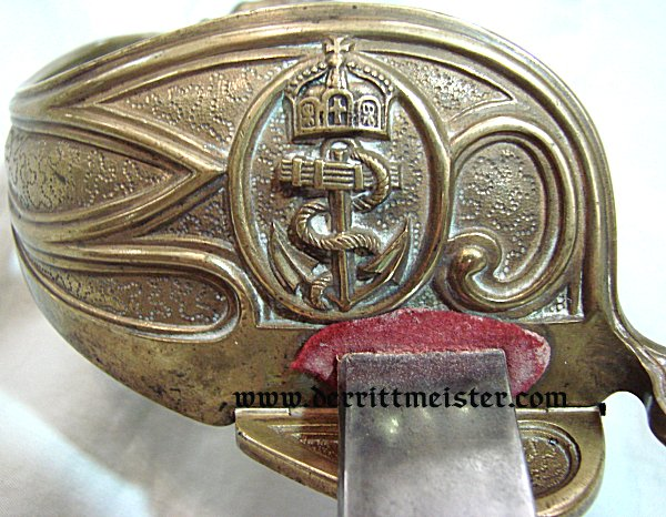 IDENTIFIED NAVY OFFICER SWORD - Imperial German Military Antiques Sale
