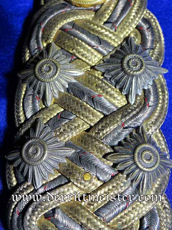 GROßADMIRAL ALFRED von TIRPITZ'S SINGLE SHOULDER BOARD AND POSTCARD - Imperial German Military Antiques Sale