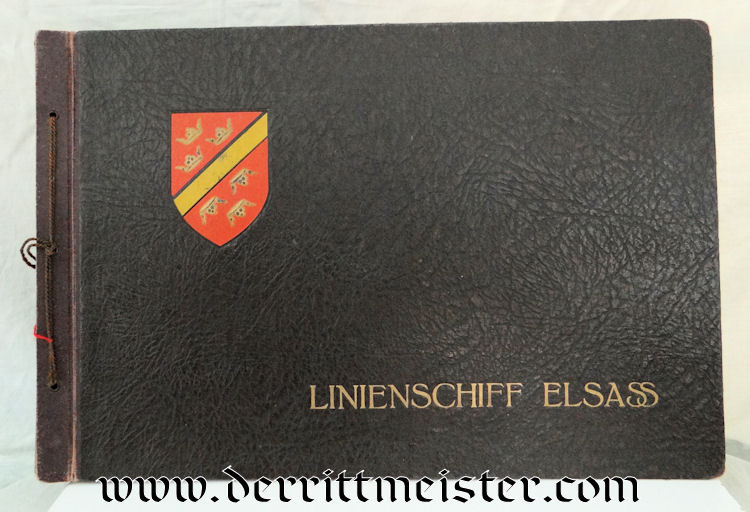 POSTCARD OR ORIGINAL PHOTOGRAPH ALBUM FROM LINIENSCHIFF S.M.S. ELASS - Imperial German Military Antiques Sale