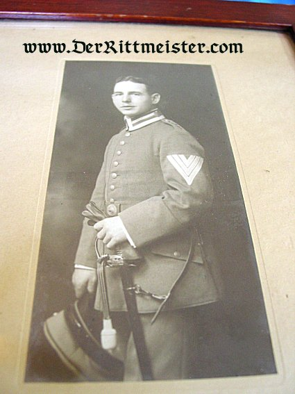 FRAMED STUDIO PORTRAIT - NCO - AVIATION UNIT - Imperial German Military Antiques Sale