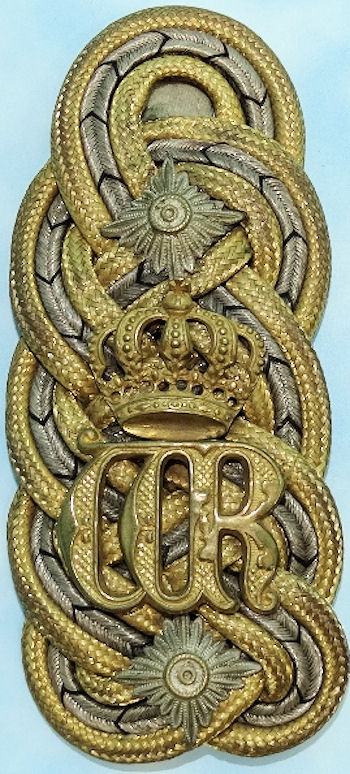 SINGLE SHOULDER BOARD FOR PRUSSIAN GENERAL der INFANTERIE/KAISER WILHELM II'S ADJUTANT - Imperial German Military Antiques Sale