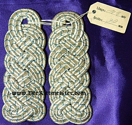 PAIR OF MAJOR SHOULDER BOARDS - BAVARIA - Imperial German Military Antiques Sale