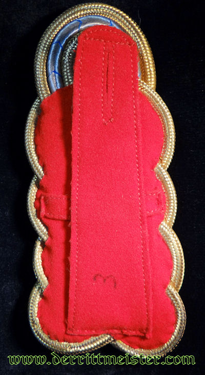 SINGLE GENERALMAJOR SHOULDER BOARD FOR OVERCOAT - BAVARIA - Imperial German Military Antiques Sale