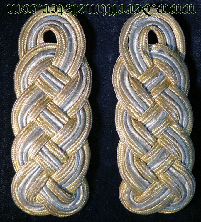 PAIR OF GENERALMAJOR'S TUNIC SHOULDER BOARDS - BAVARIA - Imperial German Military Antiques Sale