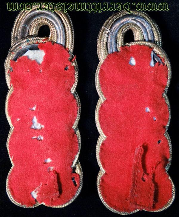 PAIR OF GENERALMAJOR'S TUNIC SHOULDER BOARDS - BAVARIA - Imperial German Military Antiques Sale