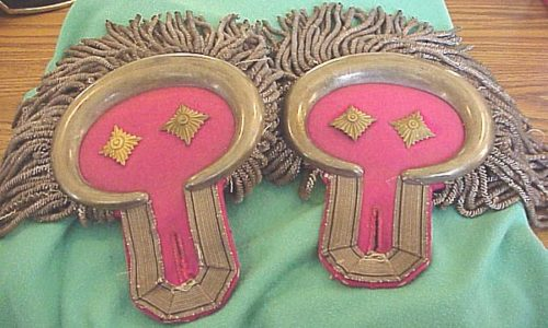 OBERST GARDE-ULANEN-REGIMENT Nr 2 OBERST'S DRESS EPAULETTES - PRUSSIA - Imperial German Military Antiques Sale