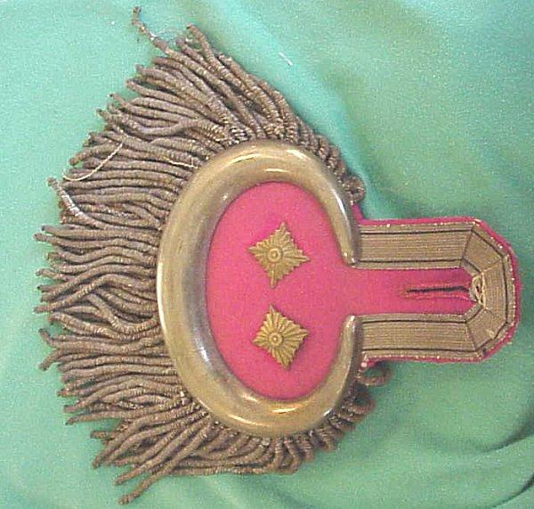OBERST GARDE-ULANEN-REGIMENT Nr 2 OBERST'S DRESS EPAULETTES - PRUSSIA - Imperial German Military Antiques Sale