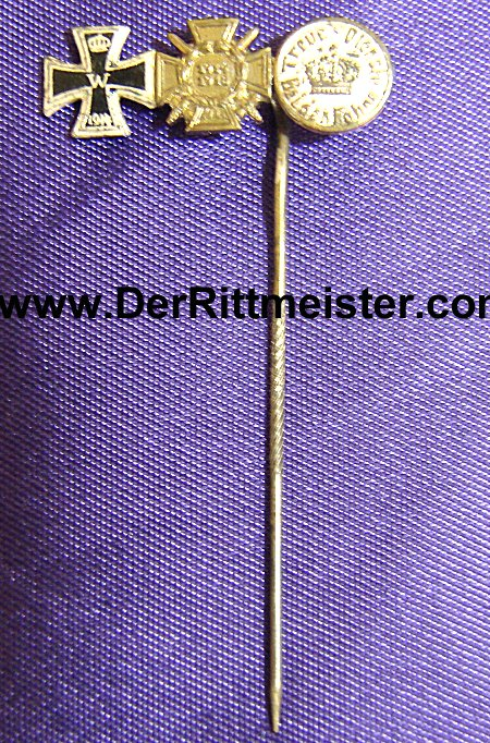 THREE-PLACE STICKPIN - Imperial German Military Antiques Sale