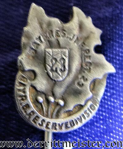 STICKPIN FOR BAVARIAN RESERVE-INFANTRY-REGIMENT Nr 23 - Imperial German Military Antiques Sale