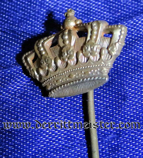 STICKPIN FEATURING CROWN - Imperial German Military Antiques Sale