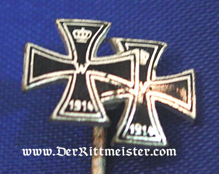 1914 IRON CROSSES 1st & 2nd CLASS STICKPIN - Imperial German Military Antiques Sale
