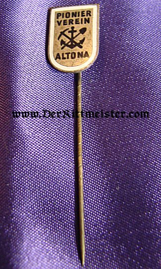 PIONIER VETERAN GROUP STICKPIN - ALTOONA - Imperial German Military Antiques Sale