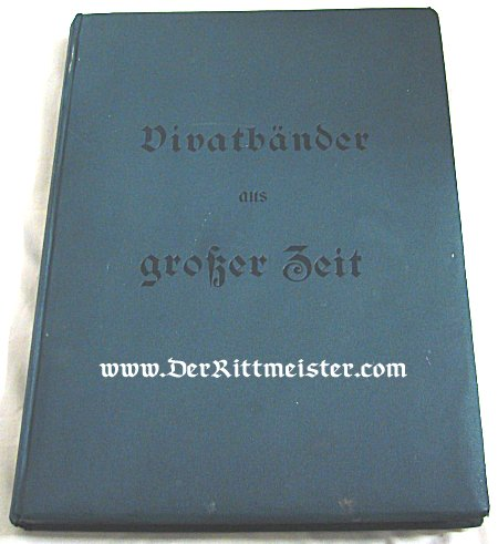 VIVAT COLLECTING ALBUM - Imperial German Military Antiques Sale