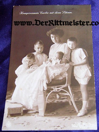 POSTCARD - KRONPRINZESSIN CECILIE - CHILDREN - Imperial German Military Antiques Sale