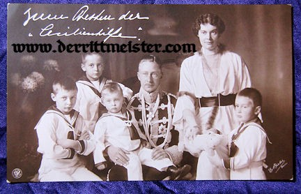 POSTCARD - KRONPRINZ WILHELM - KRONPRINZESSIN CECILIE - FOUR SONS - Imperial German Military Antiques Sale