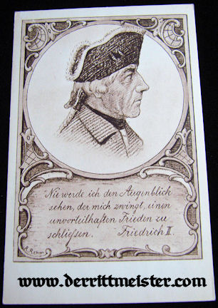 POSTCARD - KÖNIG FREDERICK THE GREAT - PRUSSIA - Imperial German Military Antiques Sale