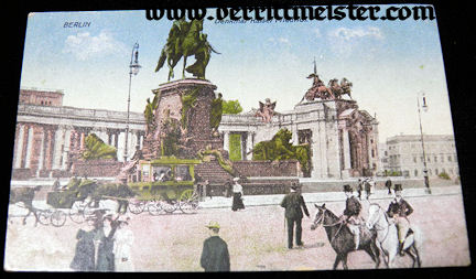 COLOR POSTCARD - KAISER FRIEDRICH III MEMORIAL - Imperial German Military Antiques Sale