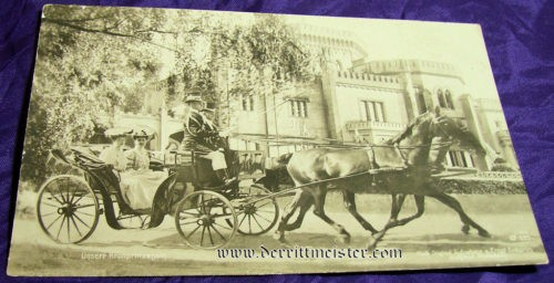 POSTCARD - KRONPRINZESSIN - CARRIAGE - Imperial German Military Antiques Sale