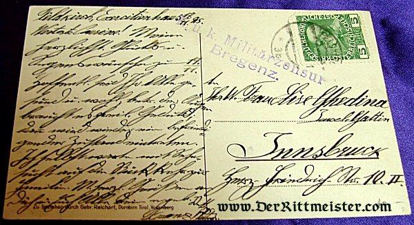 COLORIZED POSTCARD - GENERALFELDMARSCHALL von HINDENBURG - Imperial German Military Antiques Sale