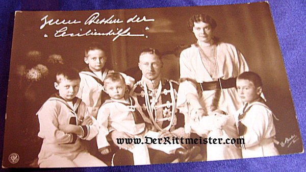 POSTCARD - KRONPRINZ WILHELM - KRONPRINZESSEN CECILIE - FOUR SONS - Imperial German Military Antiques Sale