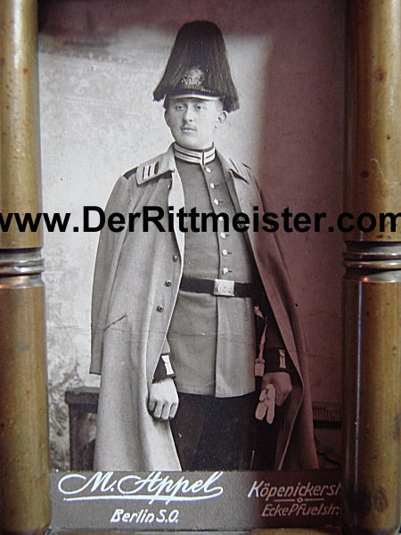 FRAMED CdV - GARDE-REGIMENT - PRUSSIA - Imperial German Military Antiques Sale