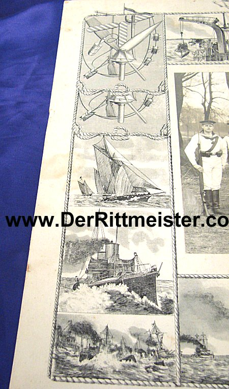 LARGE-FORMAT - DECORATIVE PHOTOGRAPH - SAILOR - MATROSEN-DIVISION - Imperial German Military Antiques Sale