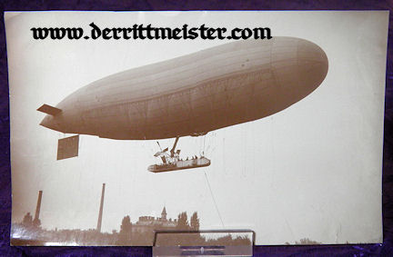 LARGE-FORMAT ORIGINAL PHOTOGRAPH - PRE WW I ZEPPELIN - Imperial German Military Antiques Sale