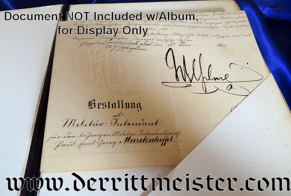 LARGE-FORMAT IRON CROSS COMBINATION PHOTOGRAPH/DOCUMENT ALBUM - Imperial German Military Antiques Sale